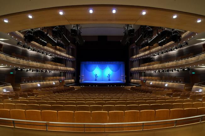 Blick auf die Bühne des neuen SaalsPhoto: Valentin Baranovsky