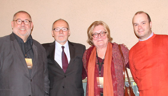 Four Jury members of the International Classical Music Awards in Budapest (from the left): President Remy Franck, Aarno  Cronvall, Bernadette Beyne, Vice-President Pierre-Jean Tribot