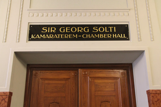 Entrance door to the Georg Solti Chamber Hall Photo: Remy Franck